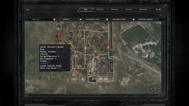 call of chernobyl how to change faction relations