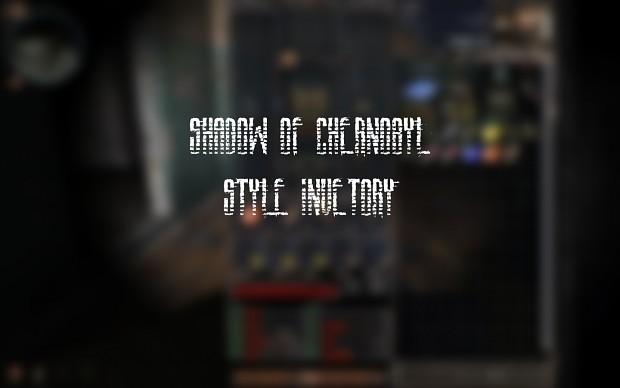 STALKER Call of Chernobyl SoC style inventory V2