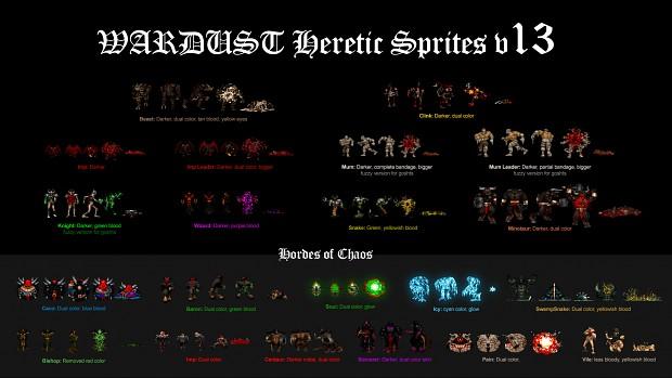 3 WARDUST heretic Sprites V13.2