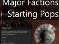 Major Factions Starting Populations