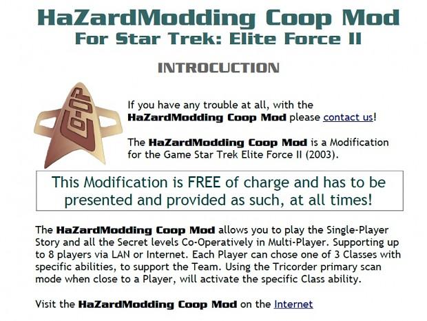 HaZardModding Coop Mod Readme