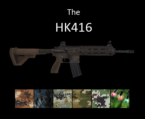 HK416 assault rifle for multiplayer servers