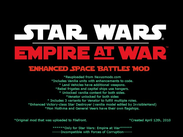 Enhanced Space Battles Mod V1.5