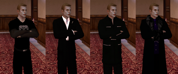 Corporate Goth Ventrue - male