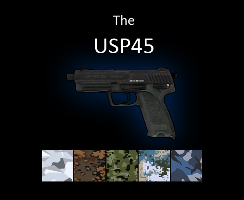 USP45 pistol for multiplayer servers
