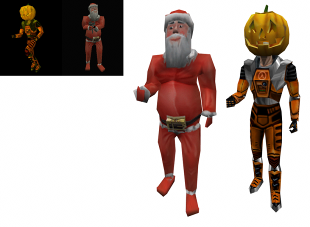 Valve's HLDM holiday models