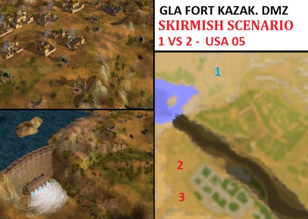 """GLA Kazak. DMZ Skirmish - """"Mission USA05"""" - 1vs2"""