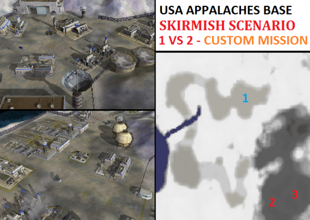 "USA Appalaches ""Emerald"" Base Skirmish - 1vs2"