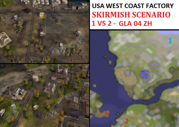"USA W-C Facility Skirmish - ""Mission GLA04"" - 1vs2"