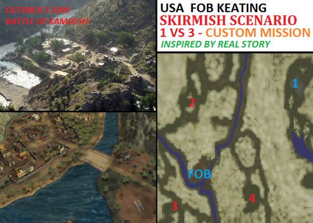 "USA ""FOB Keating"" Defence Skirmish - 1vs3"