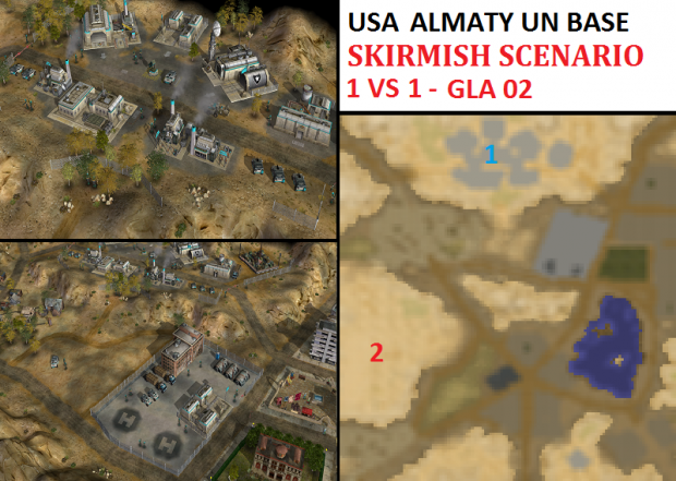 "USA UN Almaty Skirmish - ""Mission GLA02"" - 1v1"