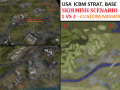 USA ICBM Strategic Base Skirmish - 1vs2