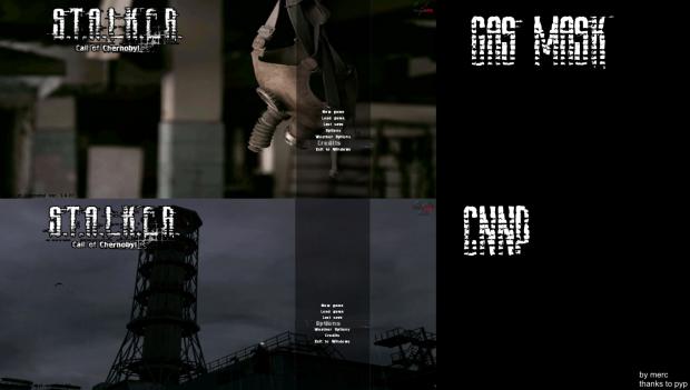 CNPP Stalker and Gasmask animated menu addon