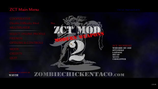 Zombie Chicken Taco Mod 2: Modern Weapons
