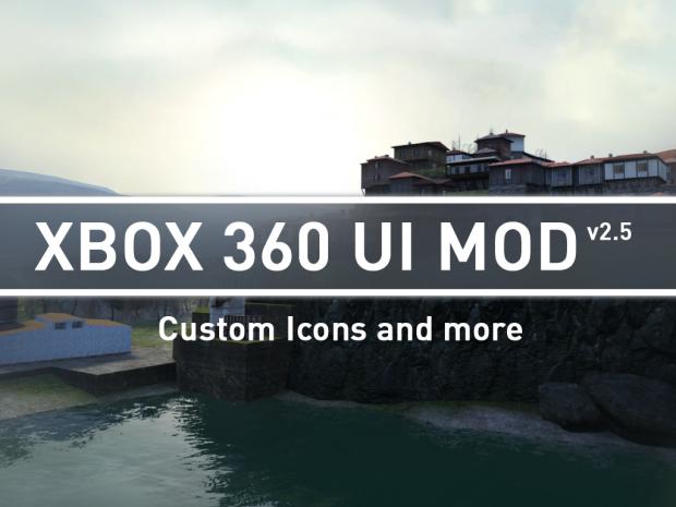 Xbox 360 UI Mod v2.5 Custom Icons and more