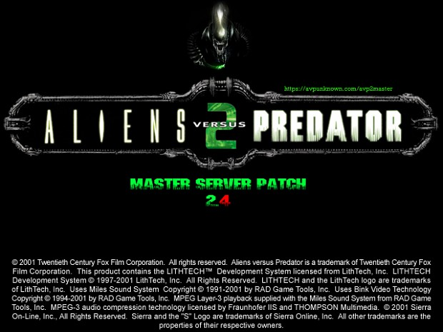 Aliens vs. Predator 2 Master Server Patch (2.4)