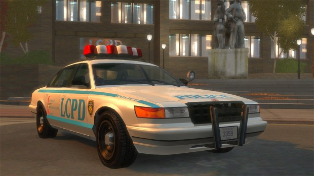 Artwork Style Police Livery & License Plate