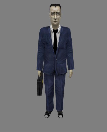 PS2 G-Man Model for Half Life: Echoes V2