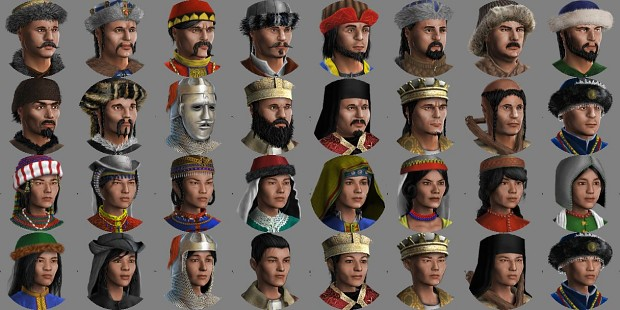 Crackdtoothgrin's Graphical Goodies: Cuman Faces 1