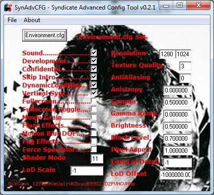 SynAdvCFG – Syndicate Advanced Config Tool v0.2.1