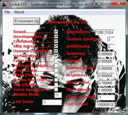 SynAdvCFG – Syndicate Advanced Config Tool v0.2.0
