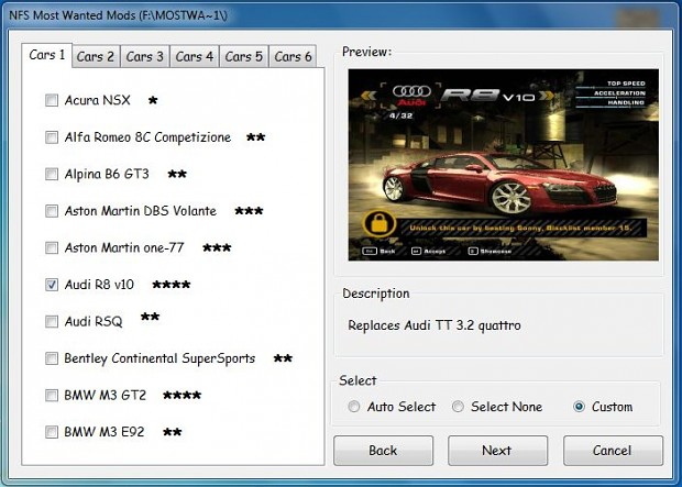 NFS Most Wanted Mods Collection