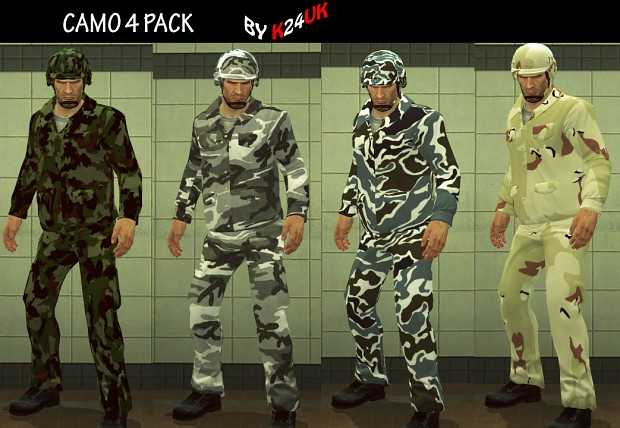 Camouflage 4 Pack