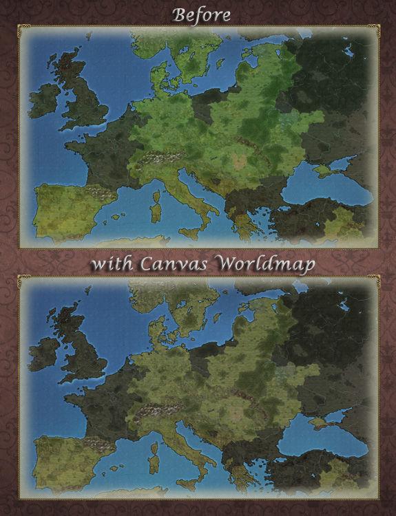 The Canvas Worldmap