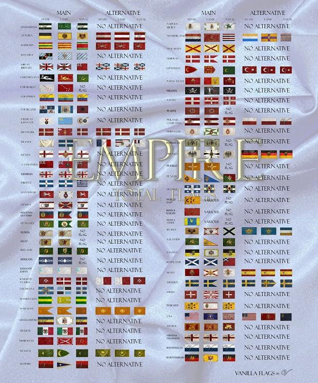 Empire Total Flags (Historical Alternative) V. 1.0