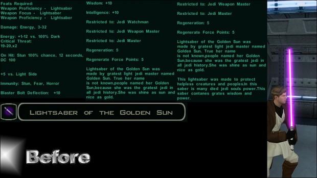Lightsaber of the Golden Sun 2.0