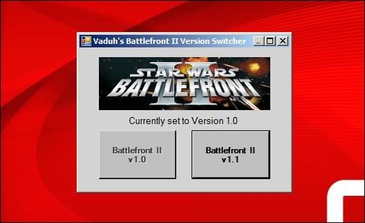 Lode Vaduh's Battlefront II Version Switcher