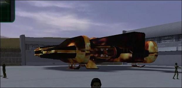 Ebon Hawk: Fire Reskin Mod