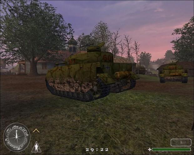 Panzer with swastika