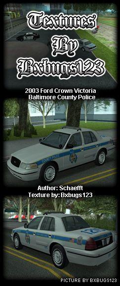 Baltimore County Police Car