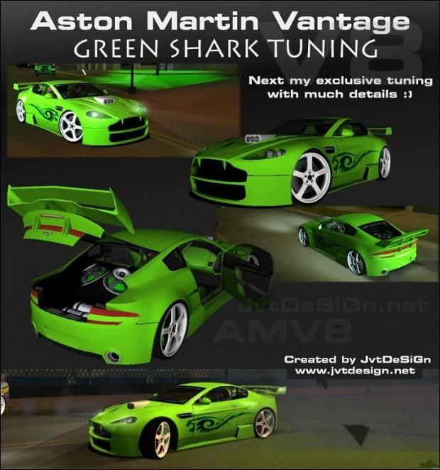 Aston Martin Vantage V8 - Green SHARK TUNING