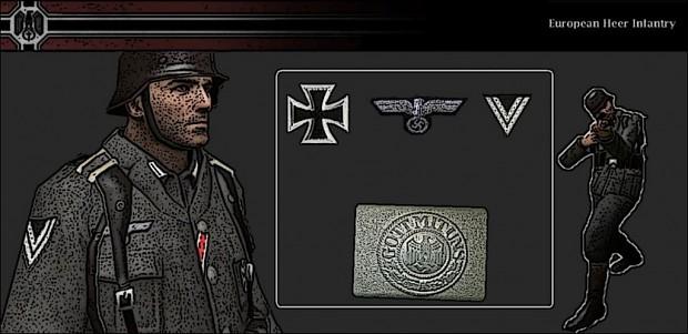European Heer Infantry Player Skin 1.0