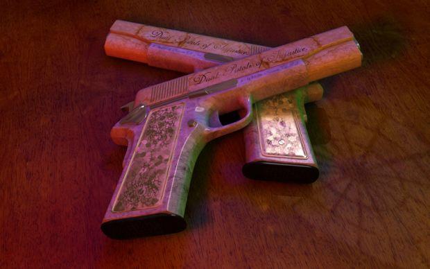 Dual Pistols of Injustice Wallpaper - 1024*768