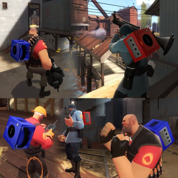 Nintendo Gamecube Team Fortress 2 Intel Replacemen
