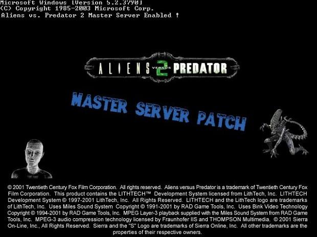 Aliens vs. Predator 2 Master Server Patch 1.2