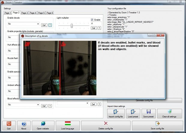 Doom 3 Tweaker 1.4