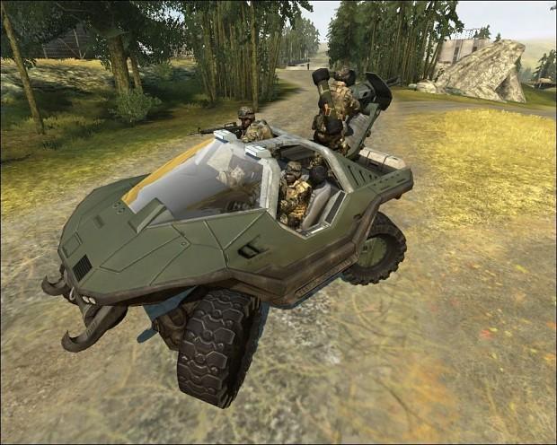 Halo Warthog Mod for BF2 1.0
