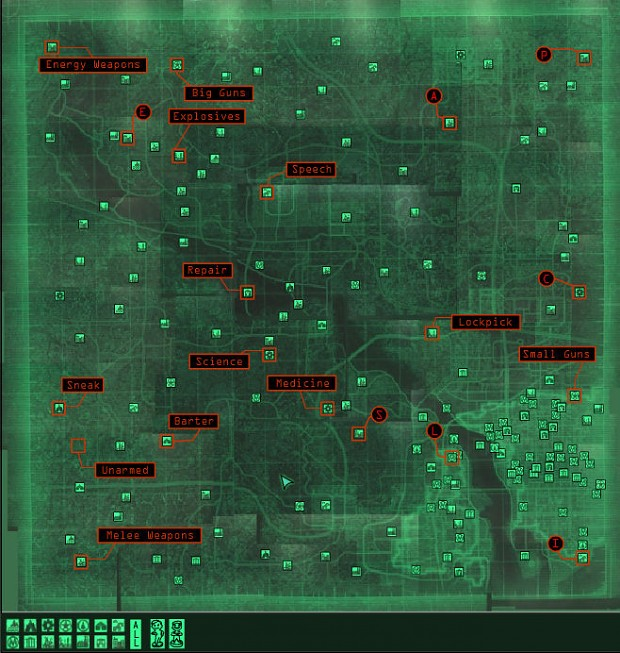 Fallout 3 Flash Map