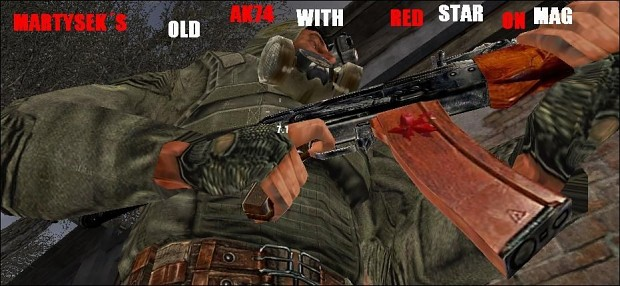 OLD AK74 WITH RED STAR ON MAG 1.00