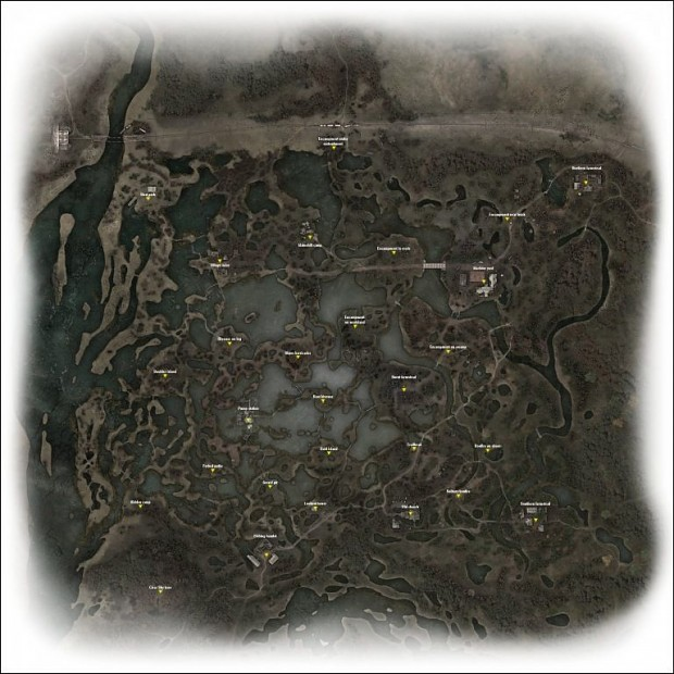 PDA map with point names - Swamps 1.1