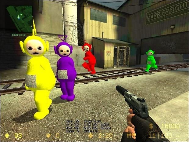 Teletubbies Hostage Skin Pack 1.0