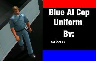 Blue AI Cop Uniform