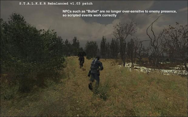 Stalker - Rebalanced 1.03 Cumulative Patch