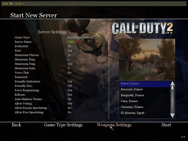 Shelby's Weapons Settings 1.0