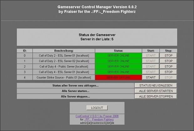 CodControl 0.0.2