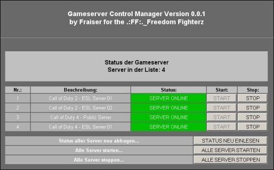 CodControl 0.0.1